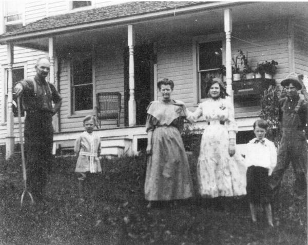 Anna Hawley Mills and Family