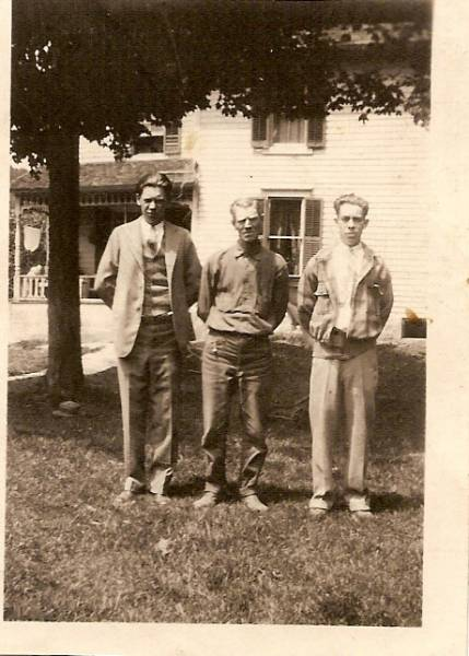 Henry, Arthur and Clayton Lee Hawley in Stamford